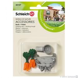 Schleich - Ruokintakaukalo ja juoma-automaatti 42127