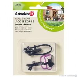 Schleich - Poniratsastusvarusteet 42126