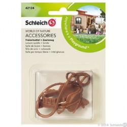 Schleich - Ratsastussatula ja ohjat 42124
